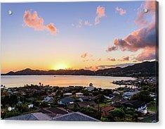 Kaneohe Bay Sunrise 1 Acrylic Print