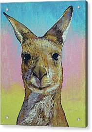 Kangaroo Acrylic Print by Michael Creese