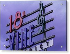 Kansas City 18th And Vine Sign Acrylic Print
