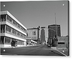 Acrylic Print featuring the photograph Kansas City - 18th Street Bw by Frank Romeo
