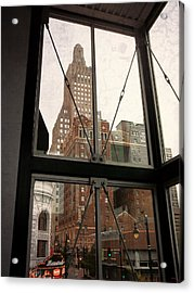 Kansas City - Beyond The Window Acrylic Print by Glenn McCarthy Art and Photography