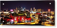 Kansas City Celebrates The Chiefs Acrylic Print
