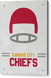 Kansas City Chiefs Vintage Art Acrylic Print