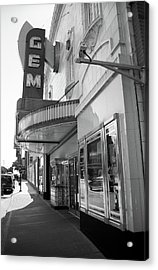 Acrylic Print featuring the photograph Kansas City - Gem Theater 2 Bw  by Frank Romeo