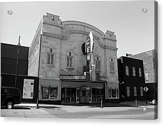 Acrylic Print featuring the photograph Kansas City - Gem Theater Bw by Frank Romeo