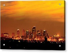 Kansas City Missouri Skyline Acrylic Print by Don Wolf