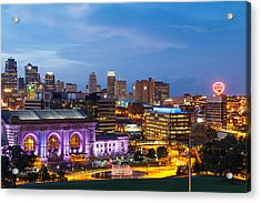Kansas City Night Sky Acrylic Print