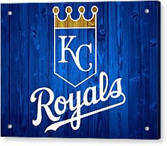 Kansas City Royals Barn Door Acrylic Print