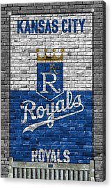 Kansas City Royals Brick Wall Acrylic Print by Joe Hamilton