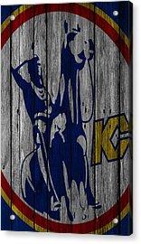 Kansas City Scouts Wood Fence Acrylic Print