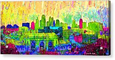Kansas City Skyline 202 - Pa Acrylic Print by Leonardo Digenio