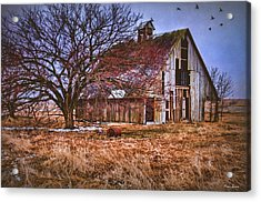 Kansas Countryside Old Barn Acrylic Print