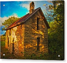 Kansas Countryside Stone House Acrylic Print