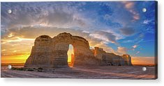 Acrylic Print featuring the photograph Kansas Gold by Darren White