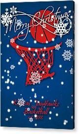 Kansas Jayhawks Christmas Card 2 Acrylic Print