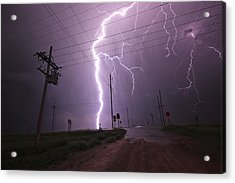 Kansas Lightning Acrylic Print by Ryan Crouse