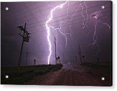 Kansas Lightning Acrylic Print