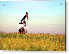 Kansas Oil Production Acrylic Print by JC Findley