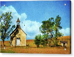 Kansas Prairie Schoolhouse Acrylic Print