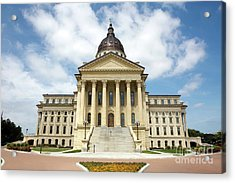 Acrylic Print featuring the photograph Kansas State Capitol Building by Steven Frame