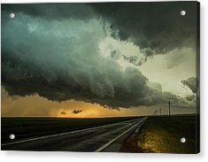Acrylic Print featuring the photograph Kansas Storm Chase Bust Day 004 by NebraskaSC