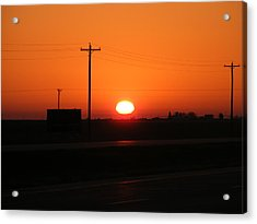 Kansas Sunrise Acrylic Print by Adam Cornelison