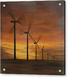 Kansas Wind Farm Acrylic Print