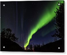 Kantishna Northern Lights In Denali National Park Acrylic Print