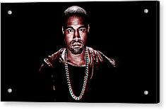 Kanye West Acrylic Print by Iguanna Espinosa