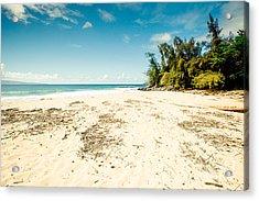 Kapalua Beach Honokahua Maui Hawaii Acrylic Print by Sharon Mau