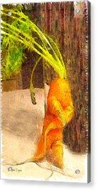Karate Carot - Da Acrylic Print by Leonardo Digenio