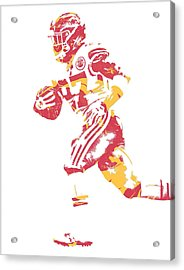 Kareem Hunt Kansas City Chiefs Pixel Art 1 Acrylic Print