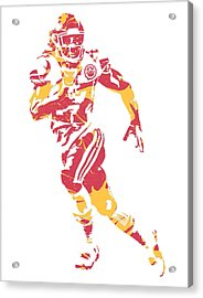 Kareem Hunt Kansas City Chiefs Pixel Art 2 Acrylic Print