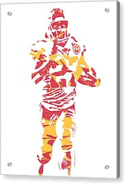 Kareem Hunt Kansas City Chiefs Pixel Art 3 Acrylic Print