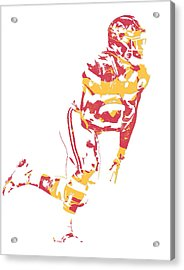 Kareem Hunt Kansas City Chiefs Pixel Art 4 Acrylic Print