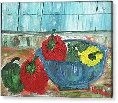 Karens Blue Vase Acrylic Print