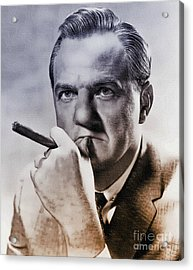 Karl Malden - Actor Acrylic Print by Ian Gledhill