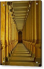 Karlovy Vary Colonnade Acrylic Print by Juergen Weiss