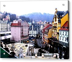 Acrylic Print featuring the photograph Karlovy Vary Cz by Michelle Dallocchio