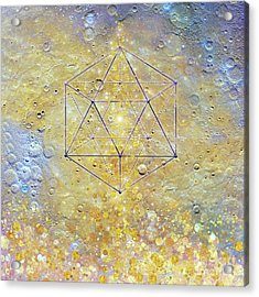 Karmic Evolution, Dreams, Fantasy, Moon, Space, Geometry Acrylic Print