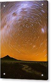 Karoo Desert Star Trail 01 Acrylic Print by Basie Van Zyl