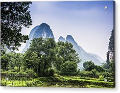 Karst Rural Scenery In Spring Acrylic Print