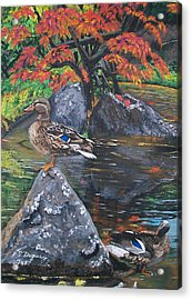 Kasugai Acrylic Print by Sharon Duguay