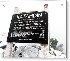 Katahdin - Baxter Peak Acrylic Print by Doug McPherson