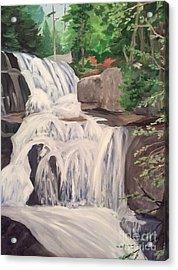 Katahdin Falls Acrylic Print by Stella Sherman
