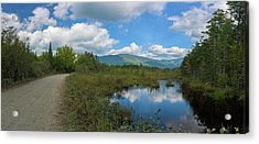 Katahdin In The Clouds Acrylic Print