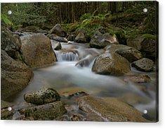 Katahdin Stream Cascades Acrylic Print
