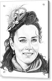 Kate Middleton Acrylic Print