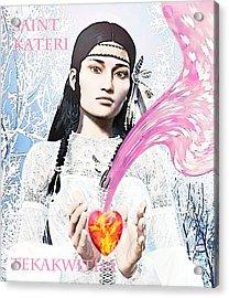 Kateri Tekakwitha Valentine Image Acrylic Print