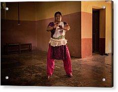 Kathakali Practice Acrylic Print by Lucas Dragone